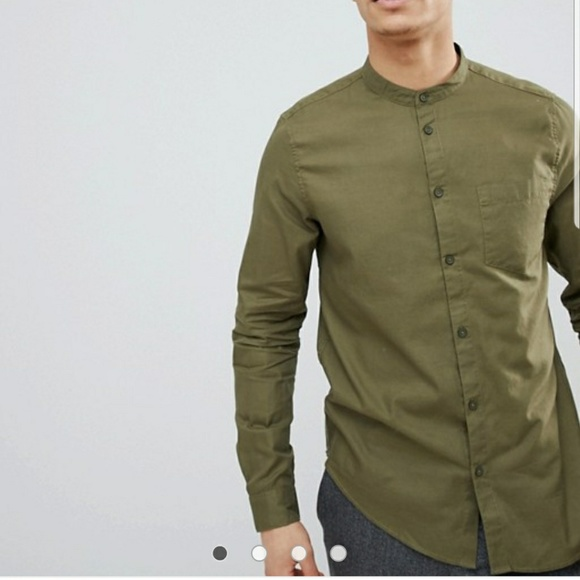 Asos Shirts Bershka By Olive Green Men Shirt L Youth Poshmark